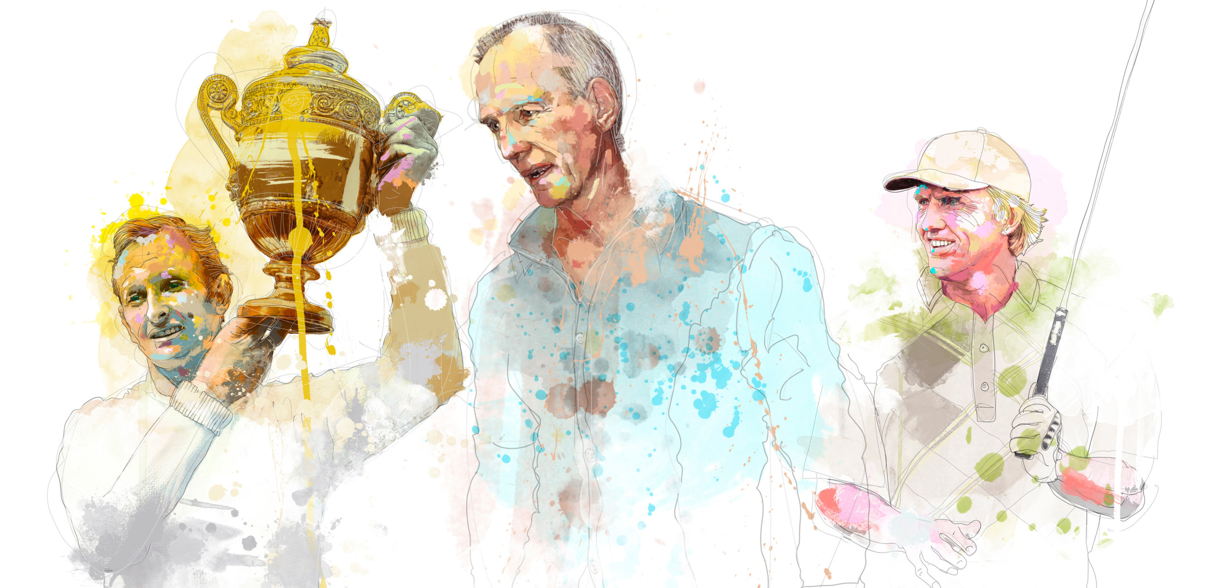 Rod Laver, Wayne Bennett and Greg Norman for the Weekend Australian