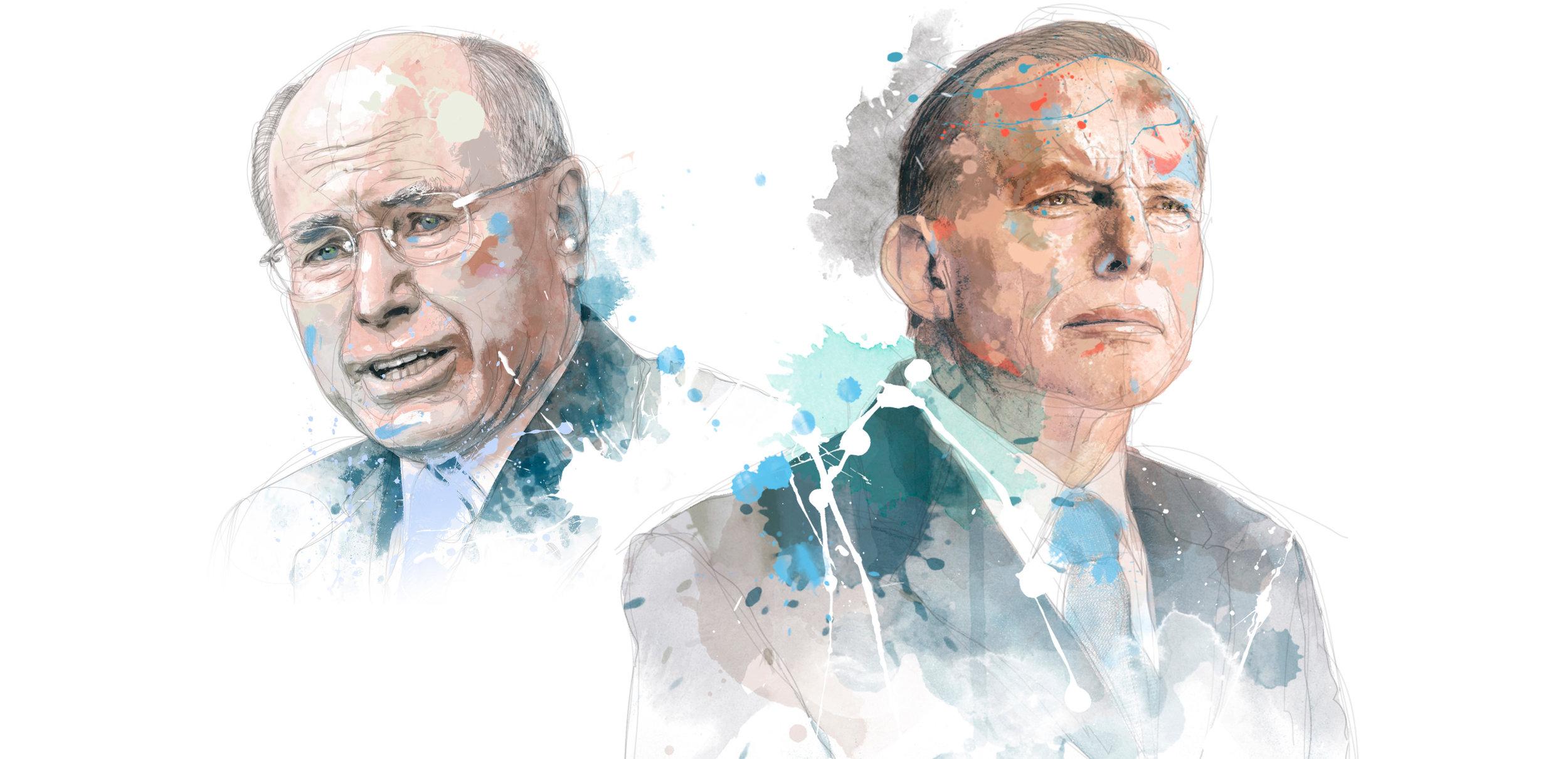 John Howard and Tony Abbott for the Weekend Australian