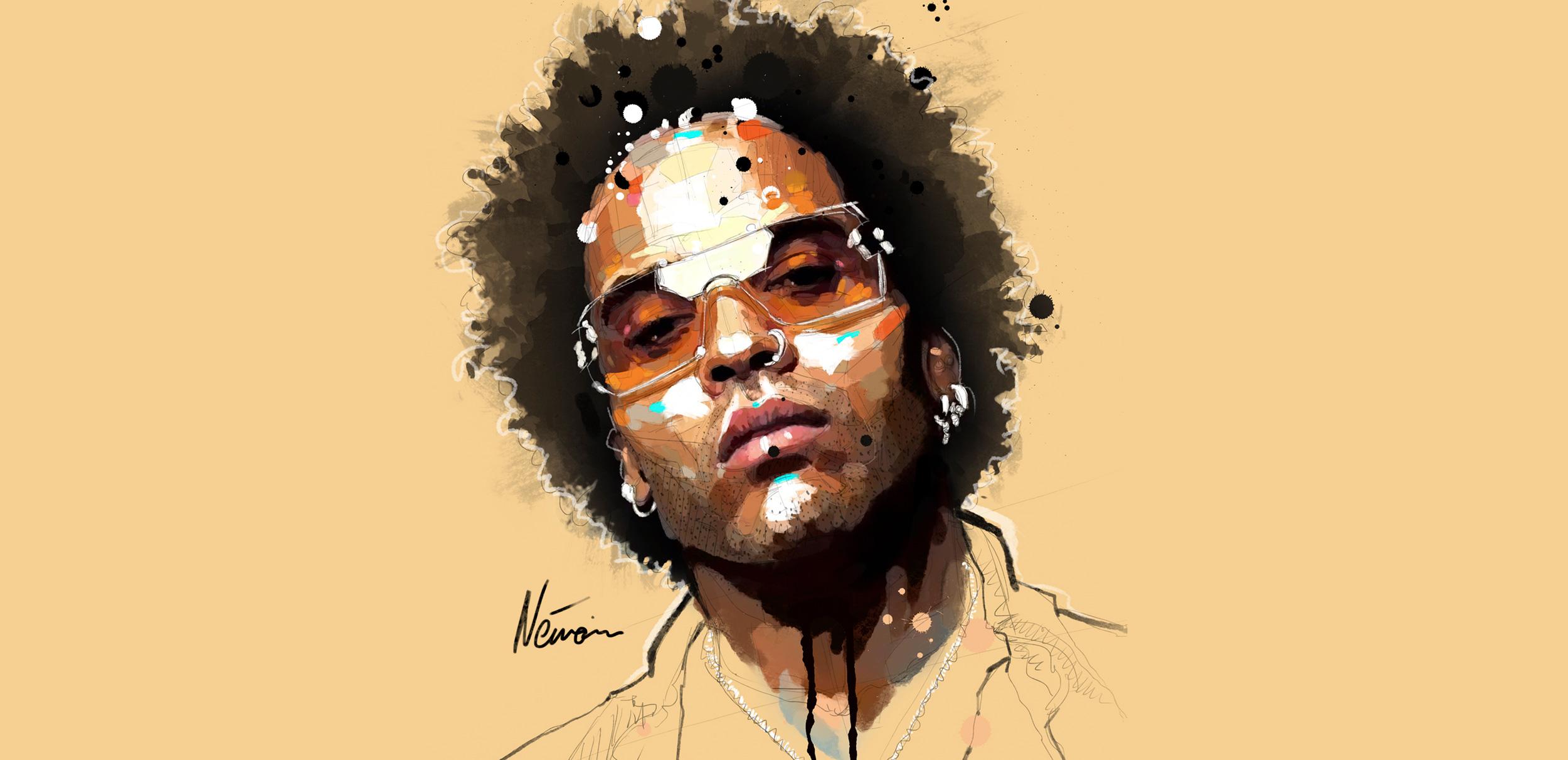 Study of Lenny Kravitz