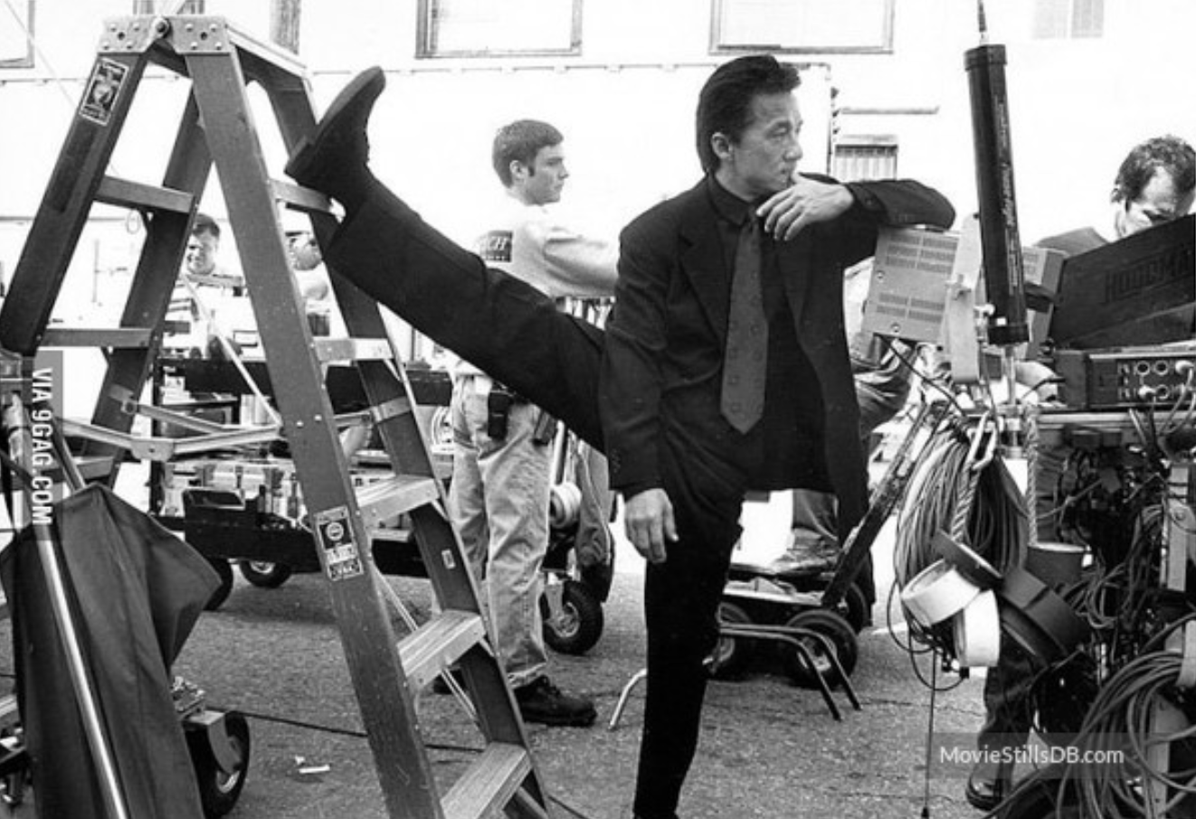 Jackie Chan on set of  Rush Hour  (1998)