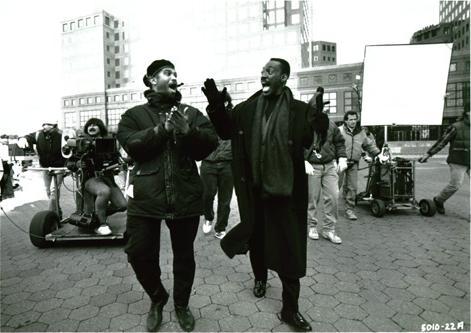 Eddie Murphy and Reginald Hudlin on set of  Boomerang  (1992)