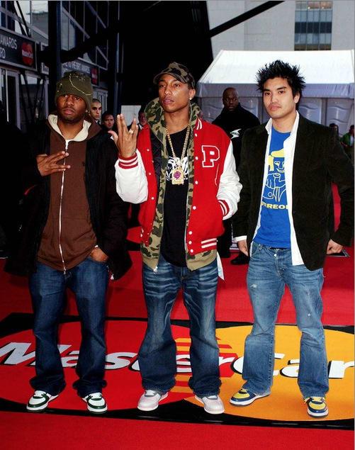 Shae Haley, Pharrell Williams, & Chad Hugo via  Complex