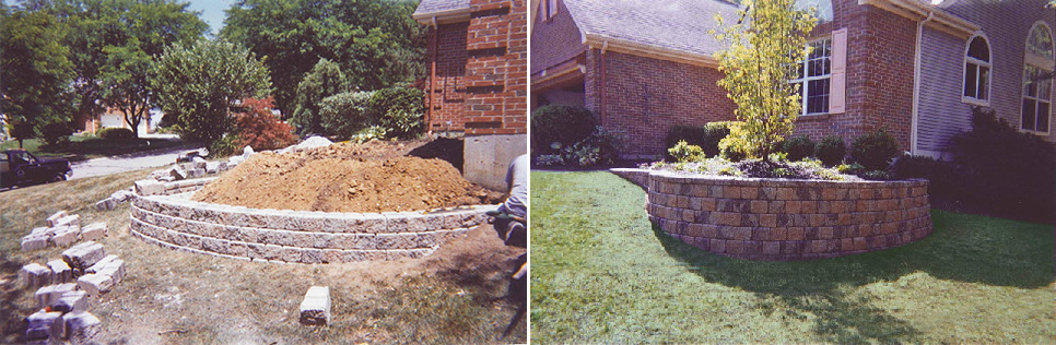 Retaining Wall - Before & After