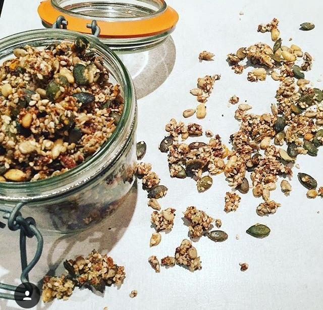Grain Free Vanilla and Coconut Granola