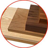 Types of hardwood used at Dalton CNC.
