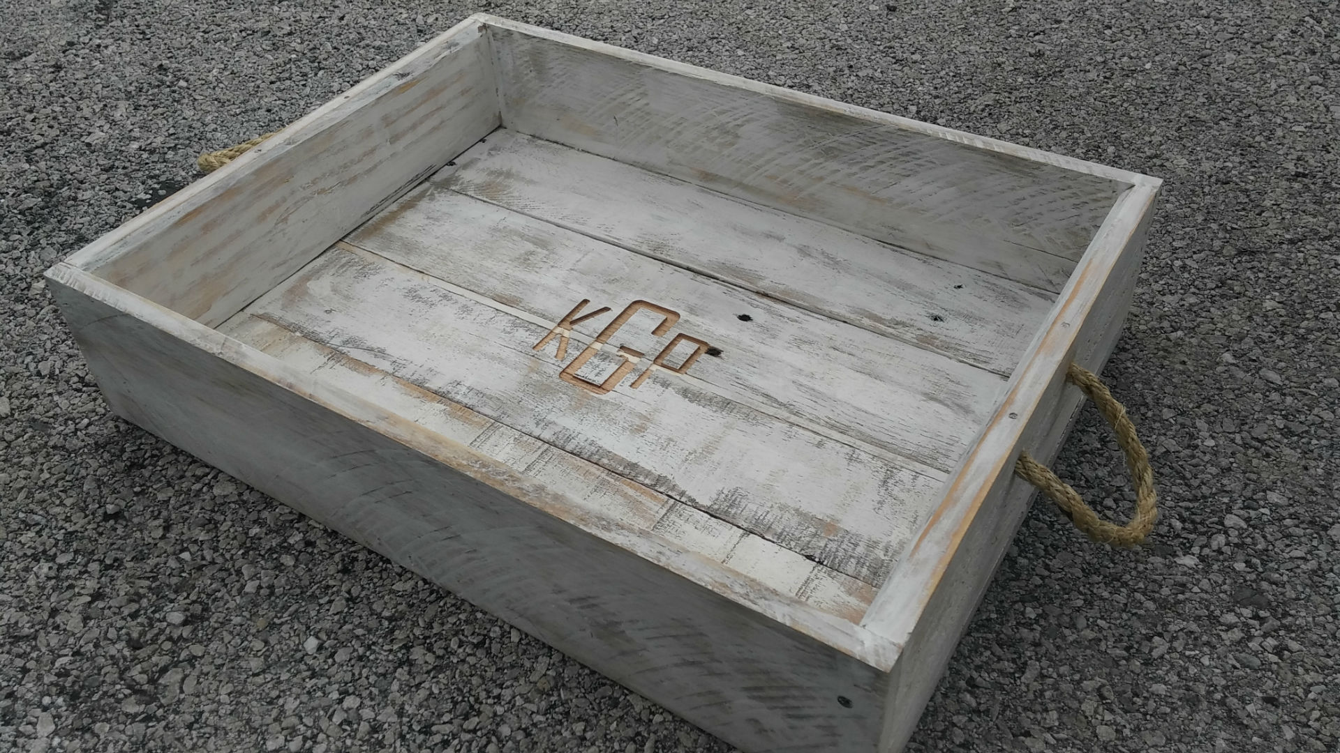 Dalton CNC Portfolio. Monogram initials inlayed on birch box container.
