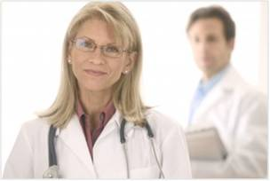 Woman Doctor in Lab Coat