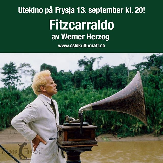 Ta på deg ullgenseren og få med deg høstens heftigste opplevelse; Operafilmen Fitzcarraldo av Werner Herzog vises på Frysja 13.september kl.20 Mer info på Frysja kunstnersenter på Facebook #utekino #oslokulturnatt #frysjakunstnersenter #kulturetaten