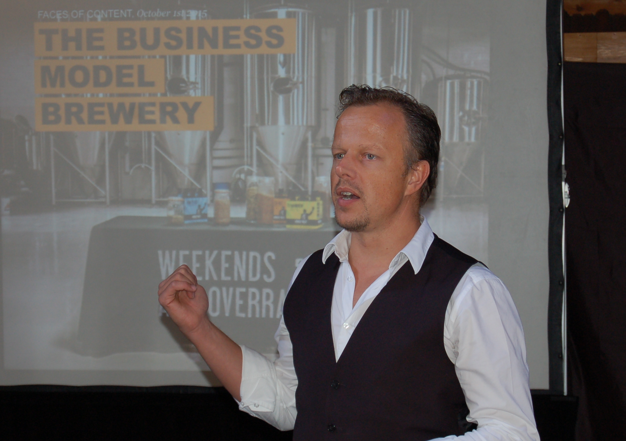 "This is Patrick van der pijl (Author of the new book ""Design a better business"" and producer of the worldwide bestseller ""business model generation"") during one of faces of content's sessions with entpreneurs about business model innovation and canvas."