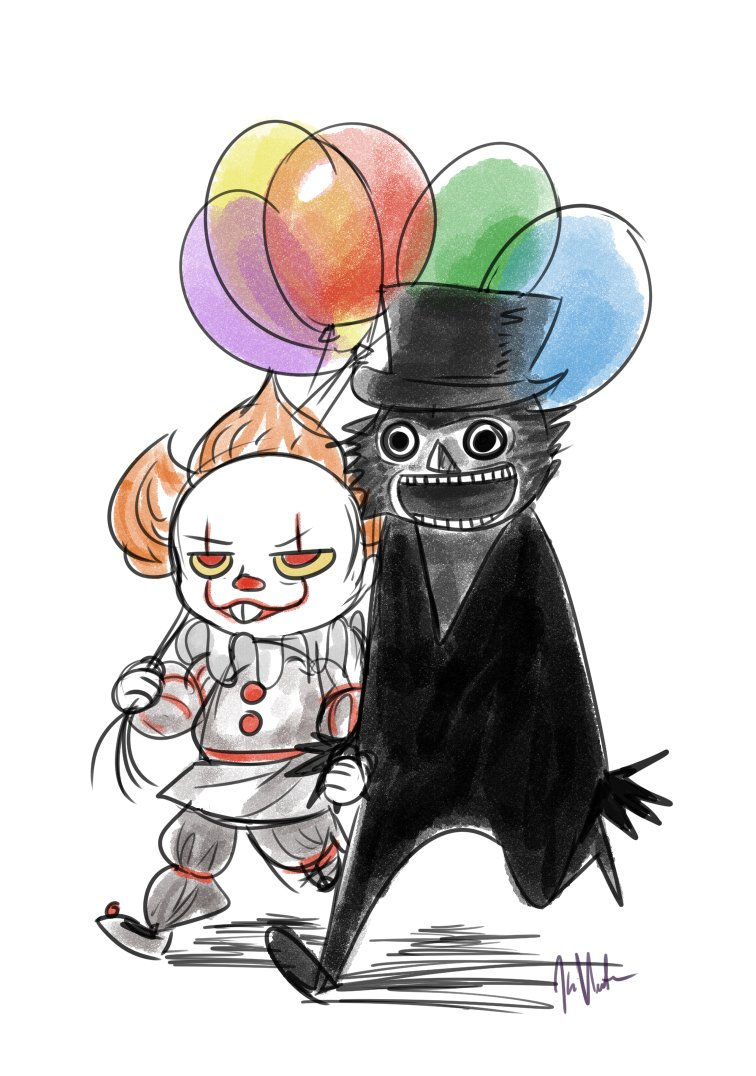 Pennywise and Babadook sitting in a tree...terrorising heteronormativity!