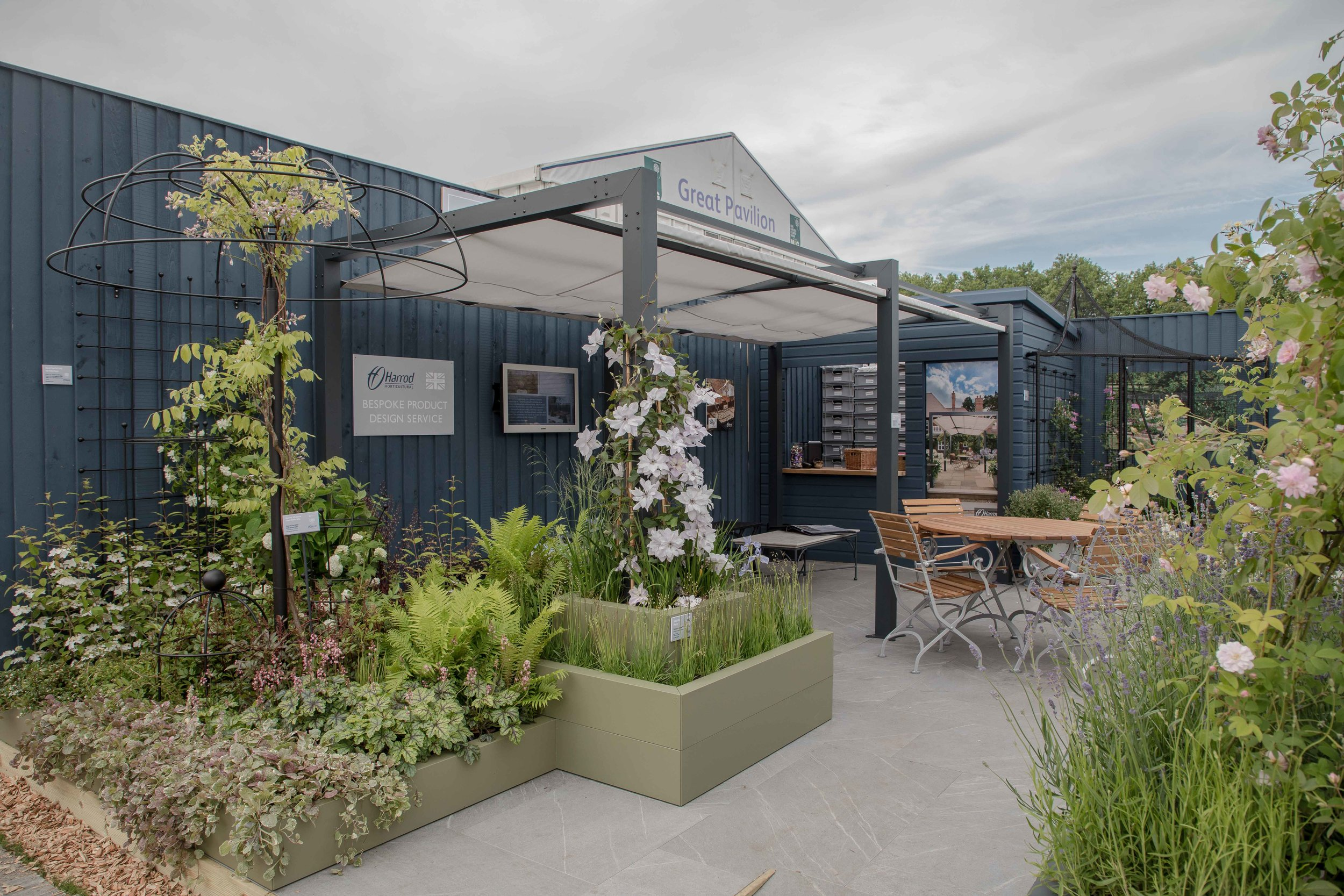 The Harrod Horticultural stand at this years Chelsea Flower Show