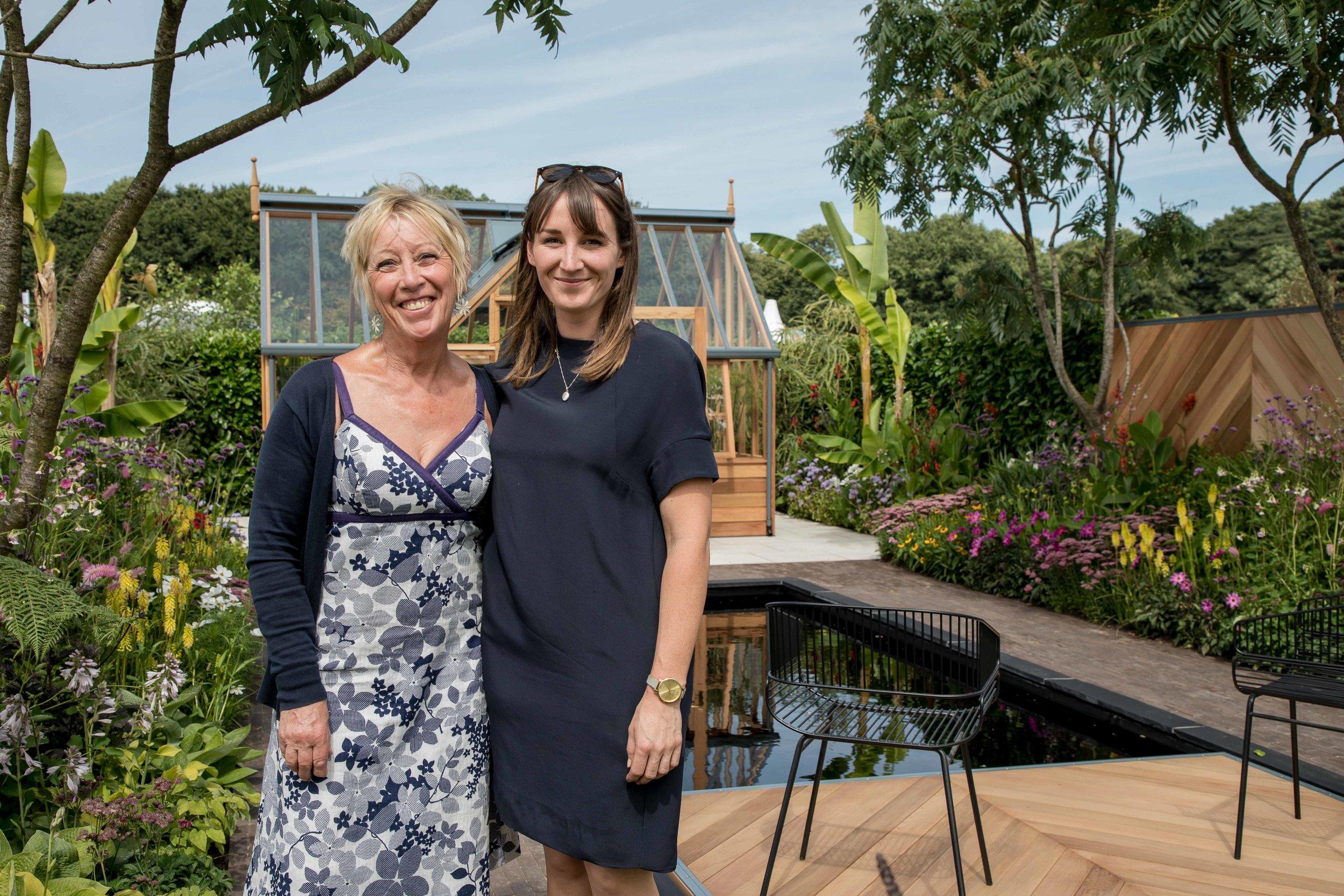 Carol Klein and Lilly Gomm on the Gabriel Ash Greenhouse Garden