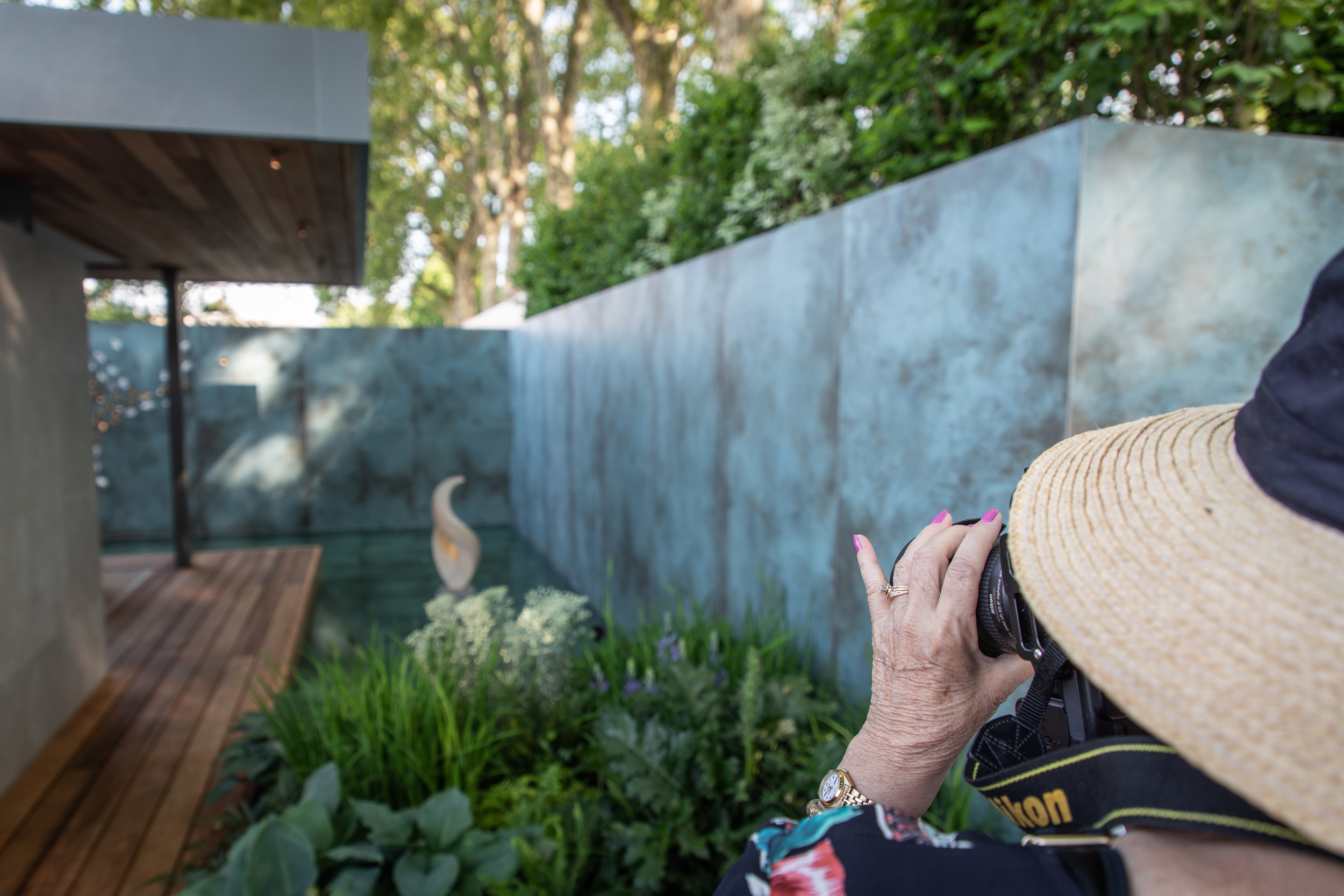 Capturing the image. Chris Beardshaw's Garden for Morgan Stanley supporting the NSPCC