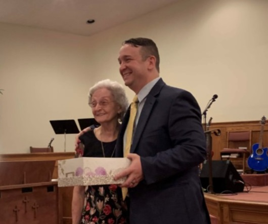 Marie Brinson presented gift for 70 years of faithful ministry as pianist/organist