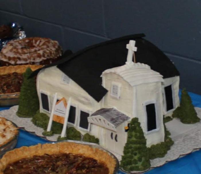 Cake replica of WJACC church on Spencer Street