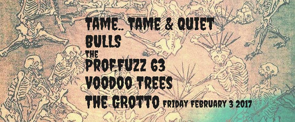 Show Poster via Facebook Event Page for Feb. 3rd Show at The Grotto