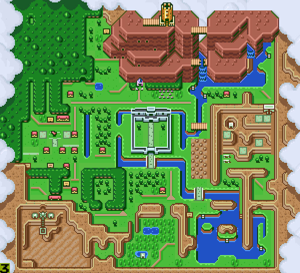 SNES Zelda Map -  Me: You think they hold music festivals in Hyrule? You: I wish