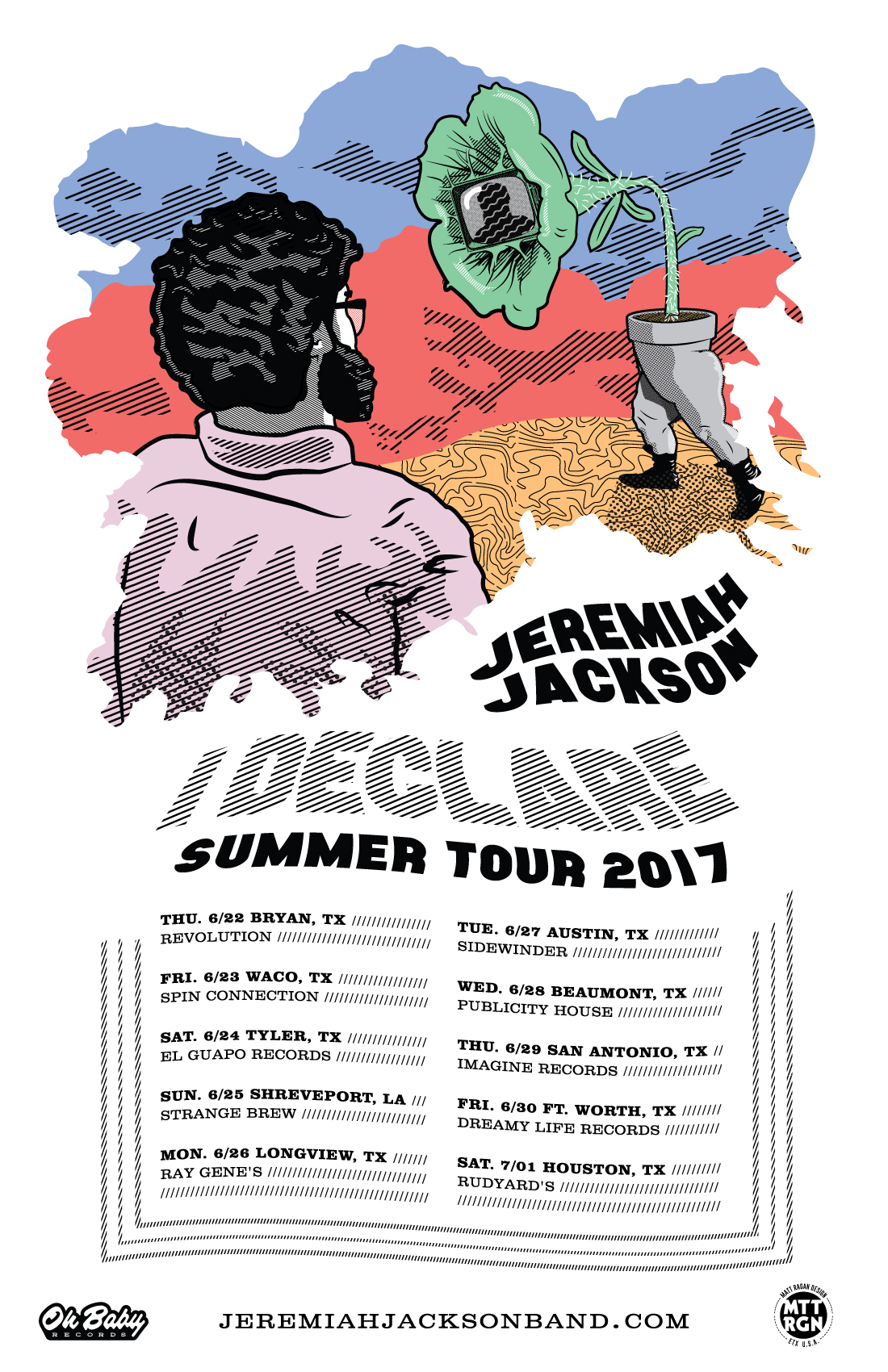 Tour Poster courtesy of Jeremiah Jackson - Album & Tour Poster Art by Matt Ragan