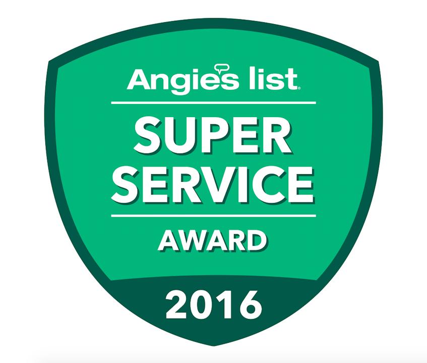 ANGIES LIST SUPER SERVICE AWARD: 2010, 2011, 2012, 2013, 2016