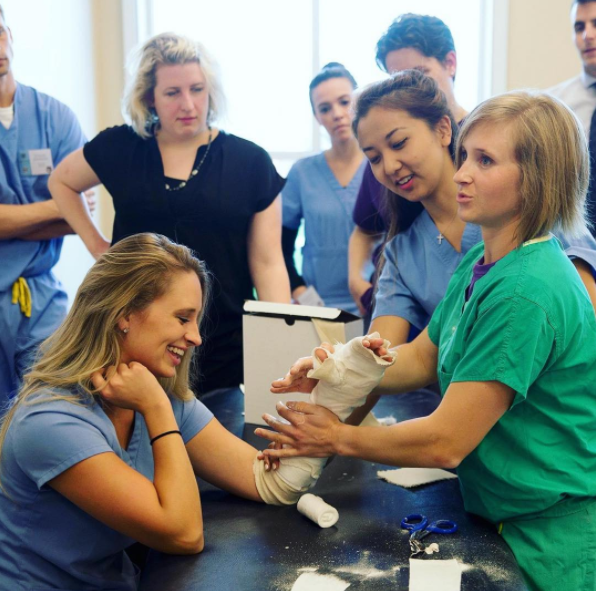 - Conference workshops are one of my favorite ways to learn! Not long after doing this splinting lab at a surgery conference, I helped a resident splint an ankle when I was rotating at the emergency room. I'm so excited to start my clinical rotations full time this week!