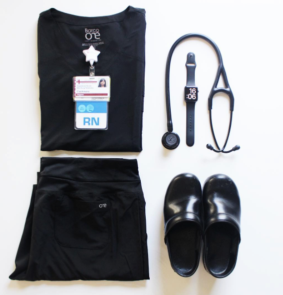 #RealCaregivers: @merelycash - cool + comfy. 😷🏥💉#allblackeverything