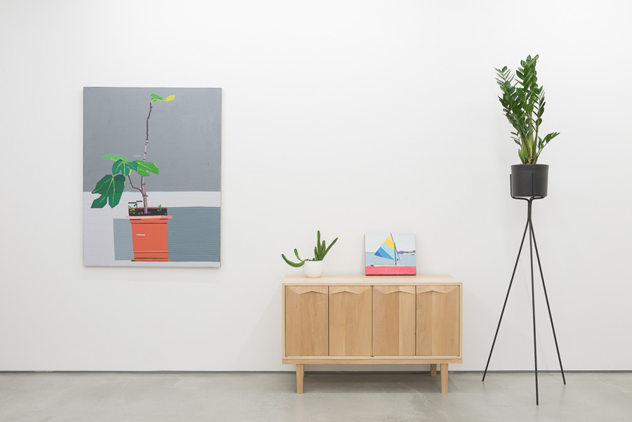 Installation view - Rod Barton Gallery, London. Paintings by Guy Yanai