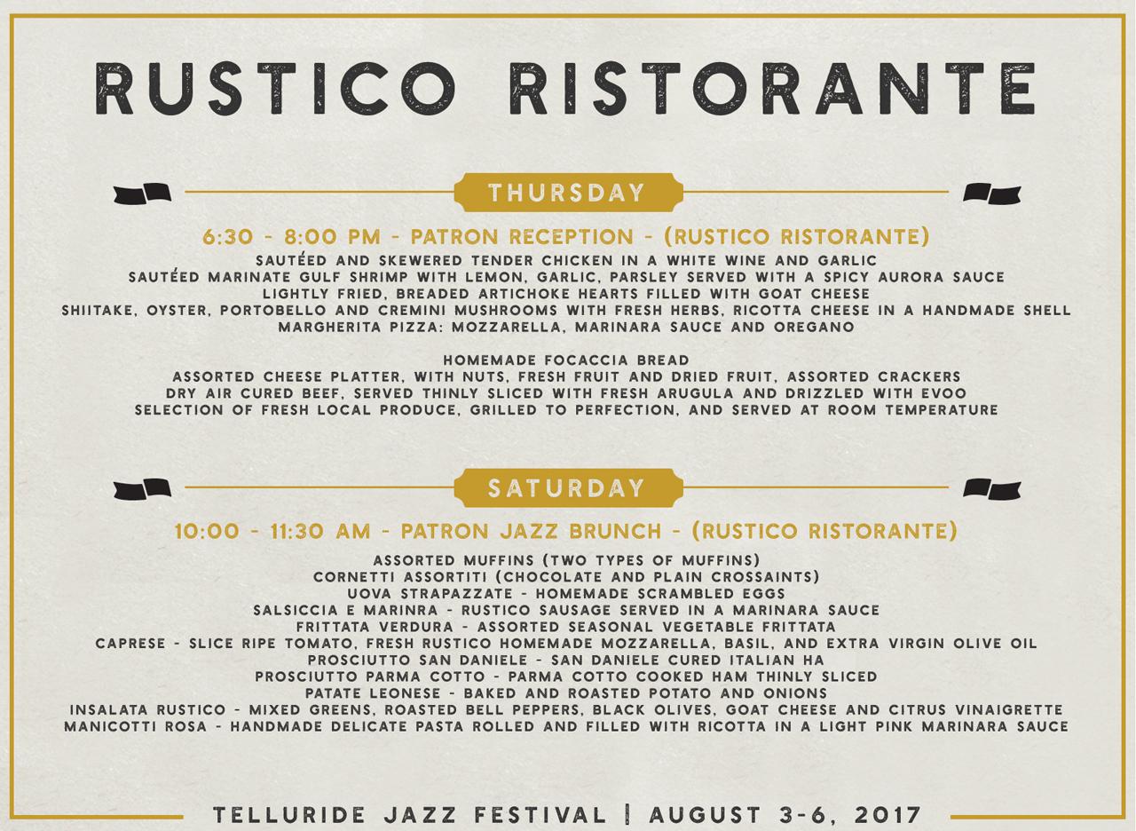 Telluride Jazz Festival | Rustico Ristorante