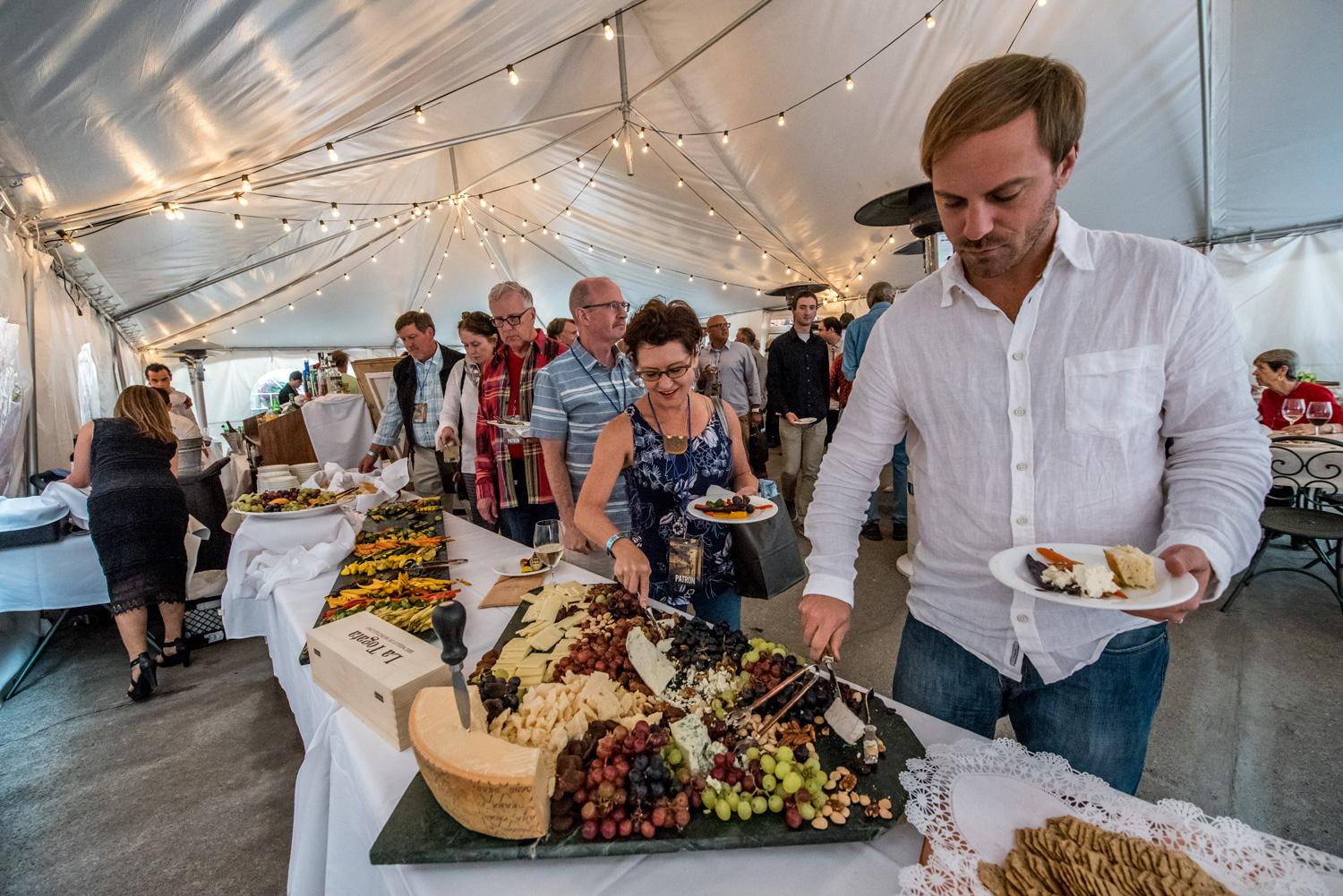 Patrons can enjoy a luxurious opening reception to kick off the festival.