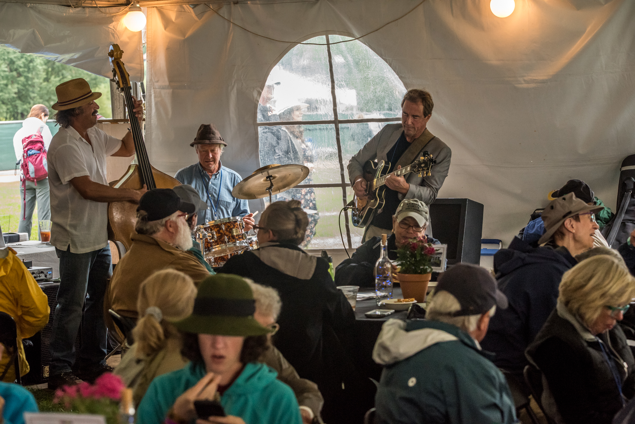 Pop-up Jazz performances between Main Stage acts are one of the many amenities the Patron/VIP lounge has to offer.