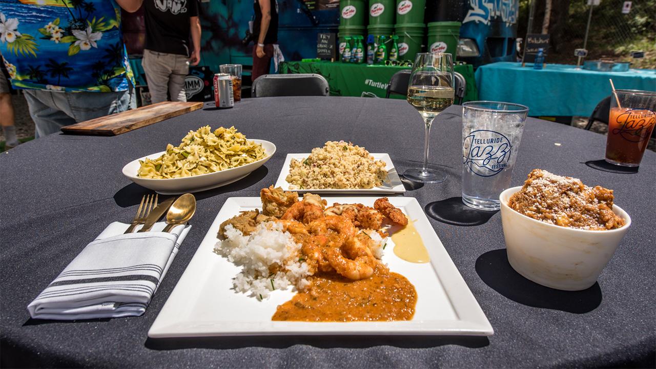 Telluride Jazz Festival | Patron Experience Food Menu