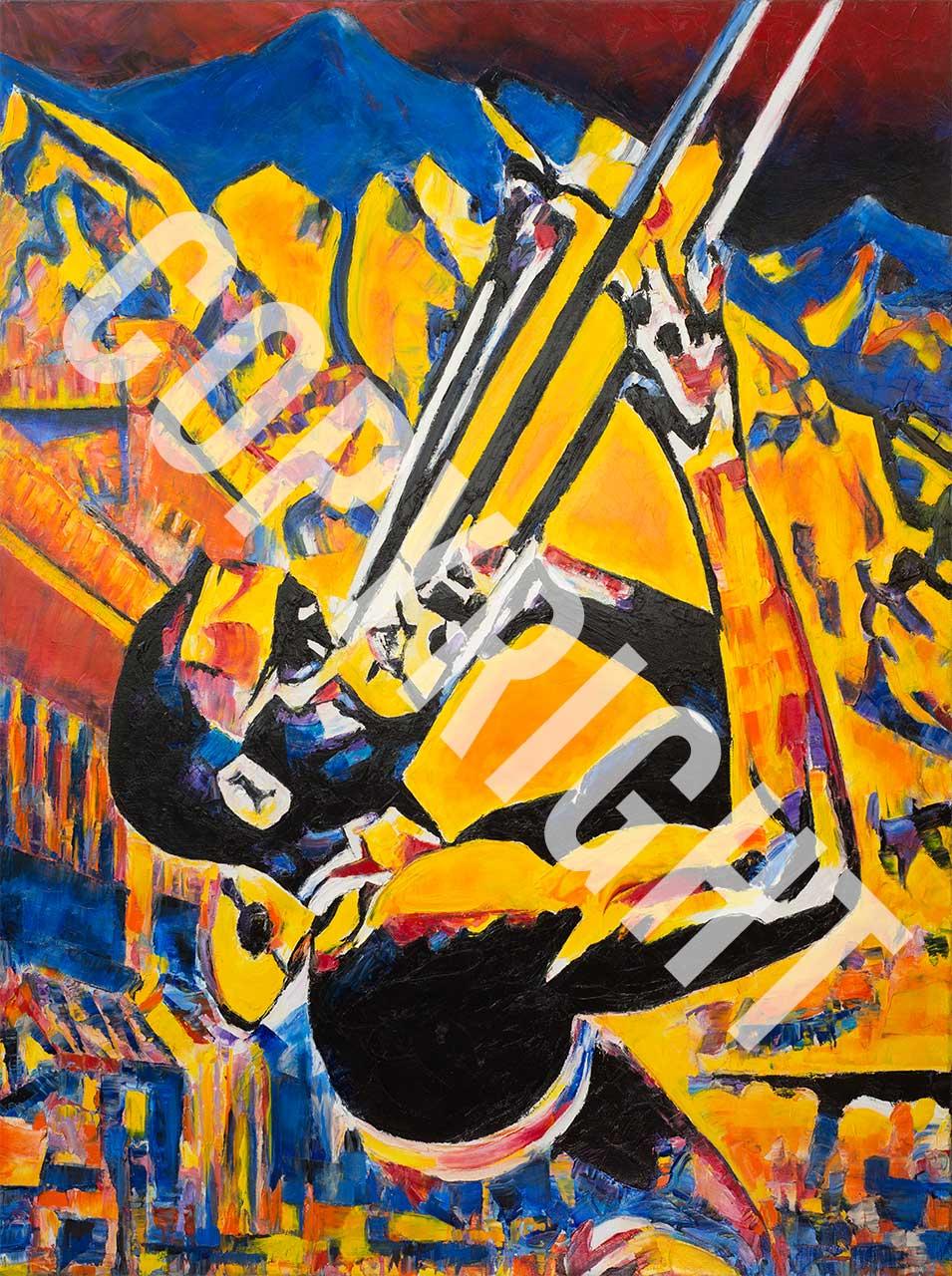 Telluride Jazz Festival - Original Art by Jennifer Godshalk