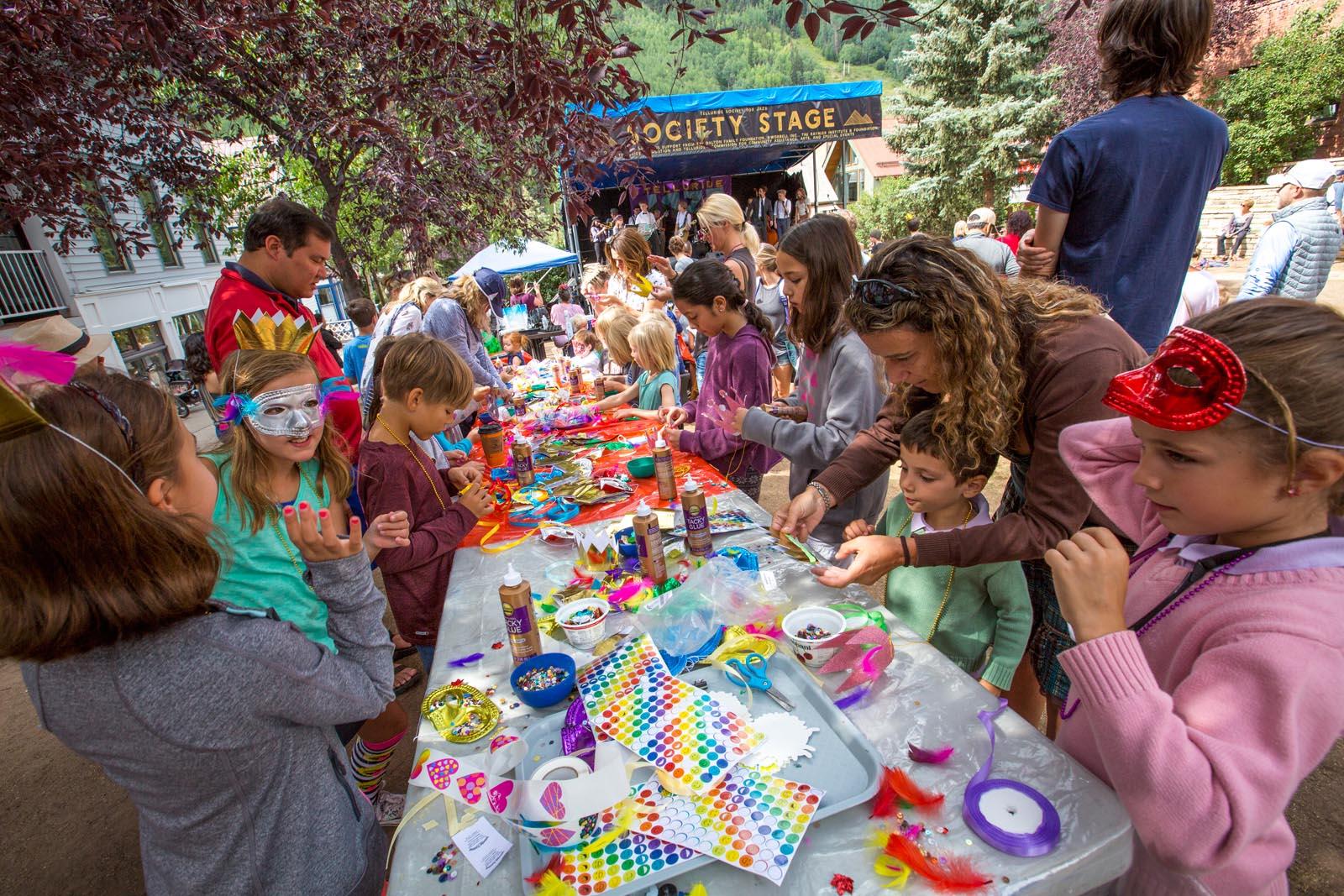 Telluride Jazz Festival   Kids Face Painting