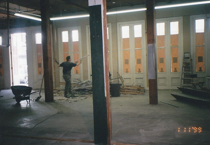 Stage Nine Entertainment Store under construction in 1999