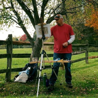 Painting the NE Ohio autumn landscape  en plein-air , October 2016