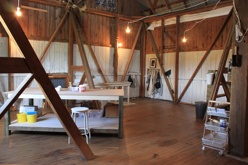 Interior of DeerField Pottery & Art Studio