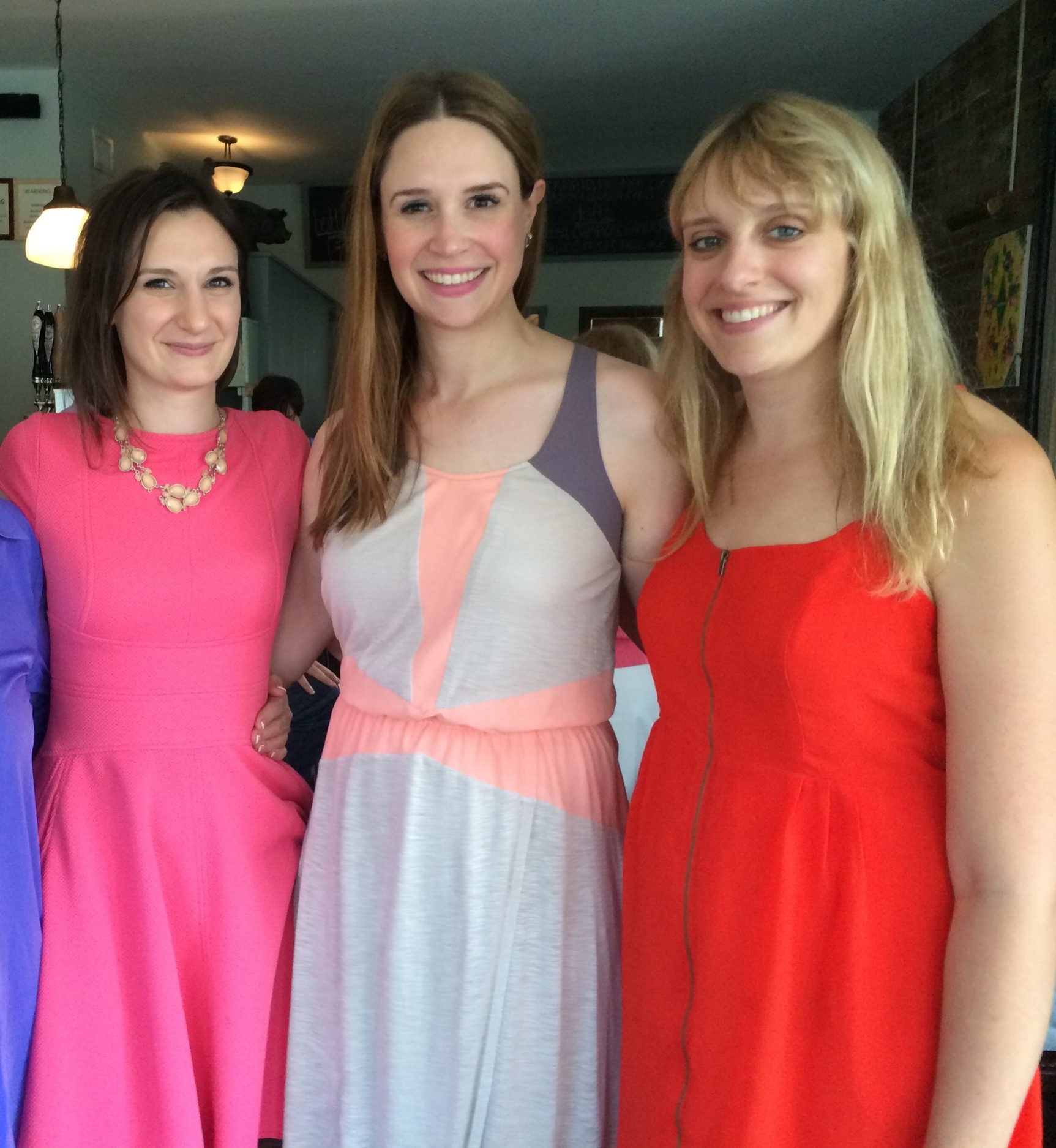 my sisters and i at my bridal shower