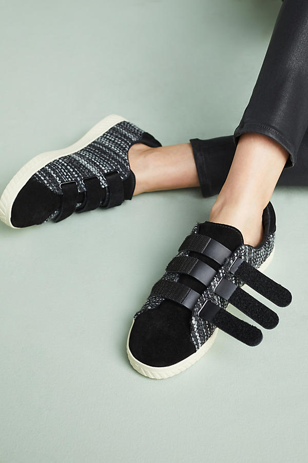 Tretorns were the sneaker to have when I was a kid. Now they're for gorwn ups. The evolved style of the woven fabric and suede Velcro straps are definitely for adults only!