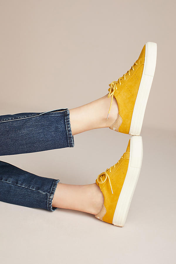 I loving the warm yellows for Fall. The suede gives these sneakers an extra cozy feel