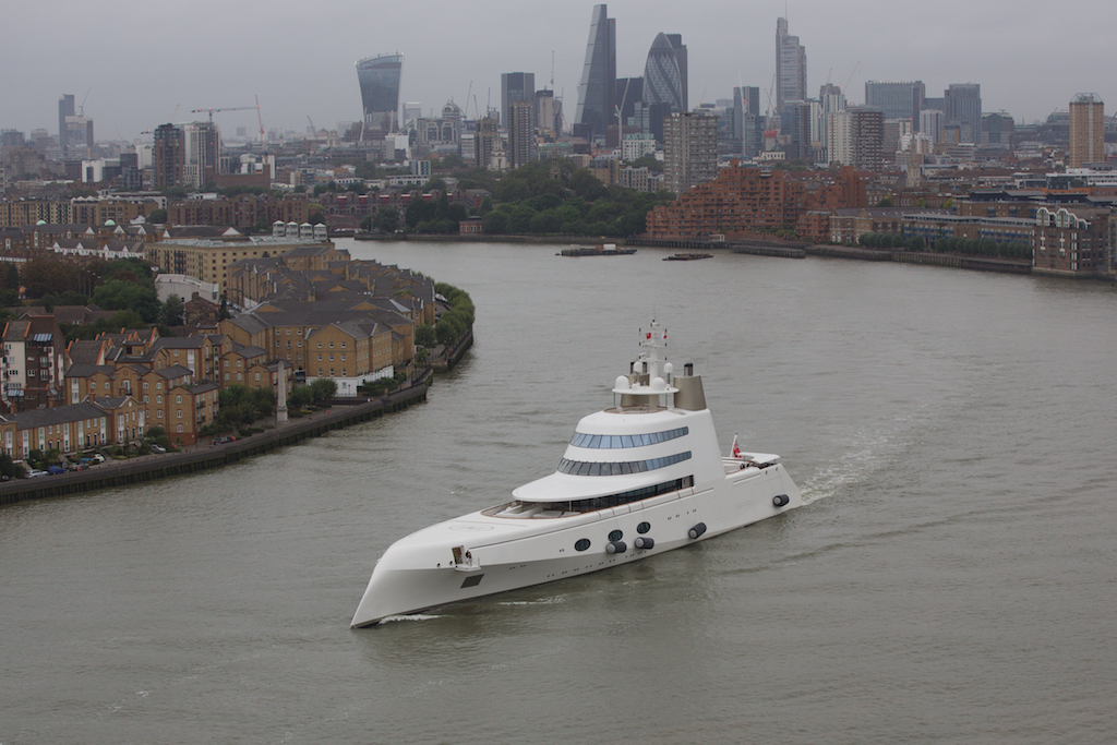 An oligarch's yacht...