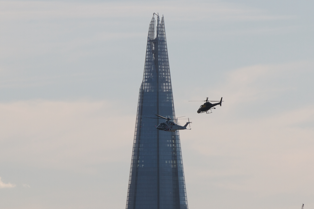 Filming the James Bond sequence for the 2012 Olympics opening ceremony
