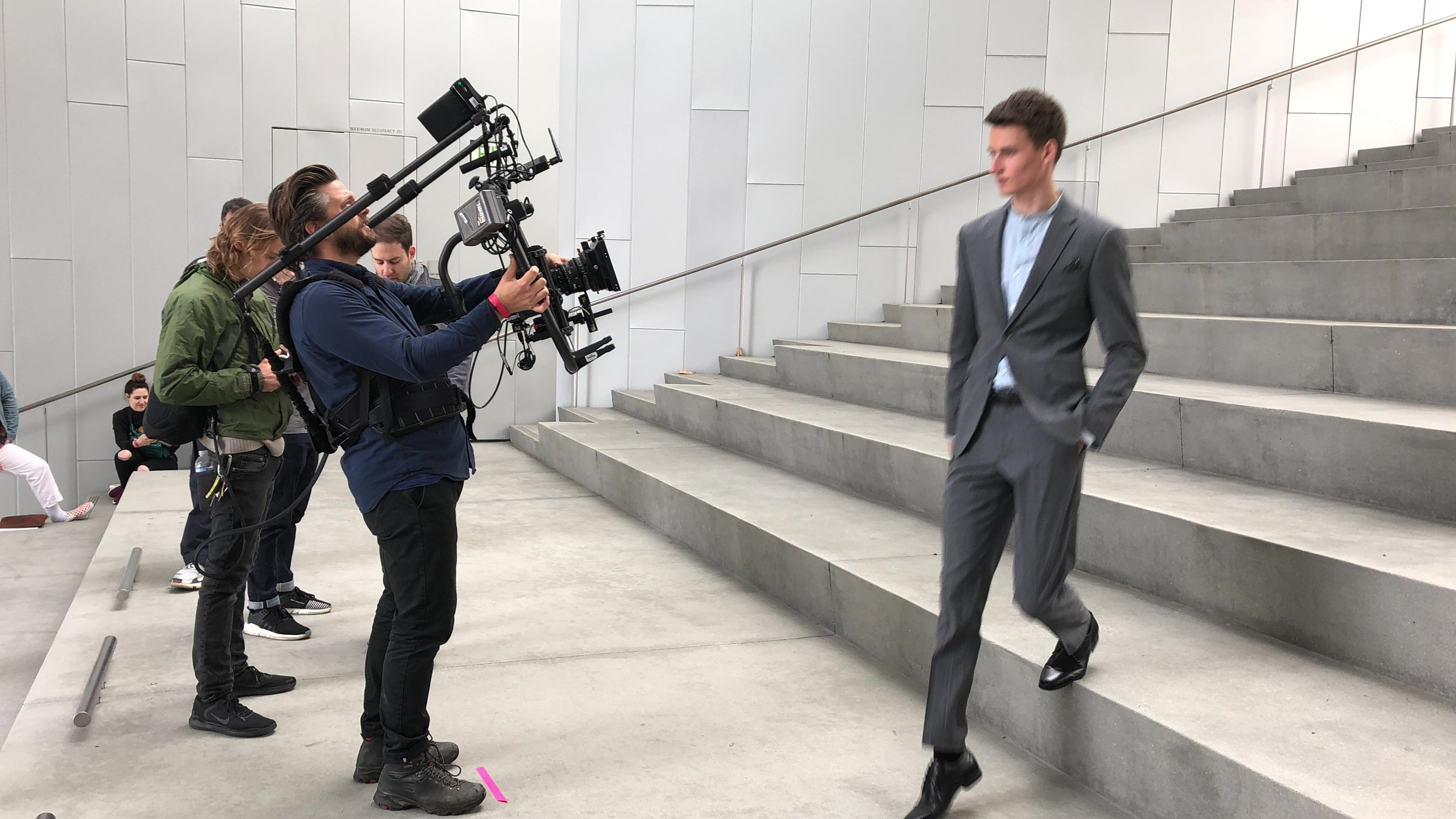 Onset of 'Perry Ellis' commercial. Photo by Eric Smolen