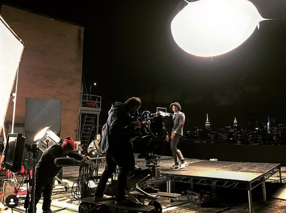 Filming Daveed Diggs onset of 'NBA TV' promo