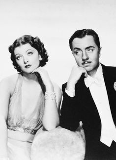Myrna Low and William Powell as Nora and Nick Charles