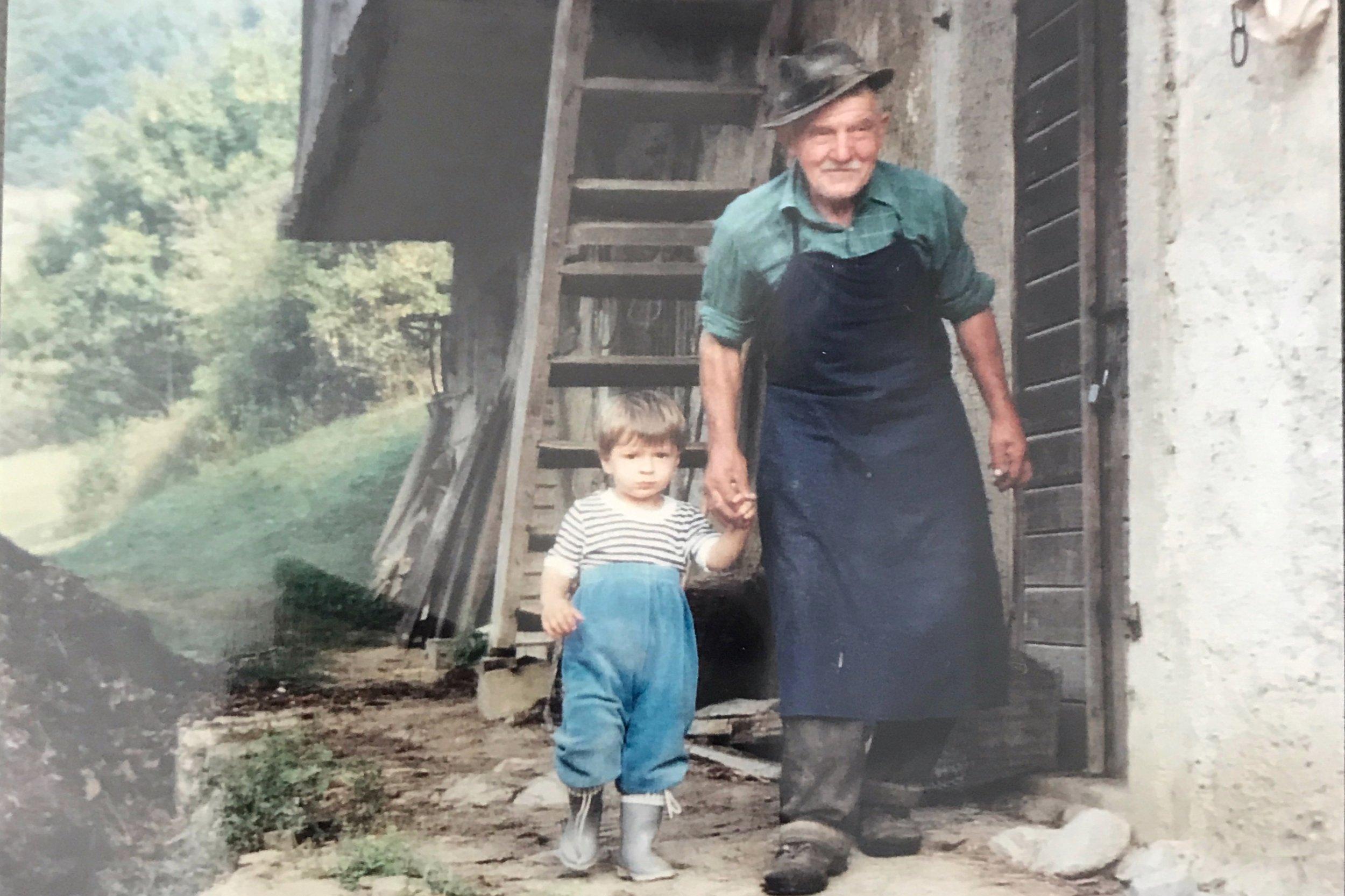 A New Favorite Picture - Stariata (Grandpa) Gorenć with K's cousin Alex