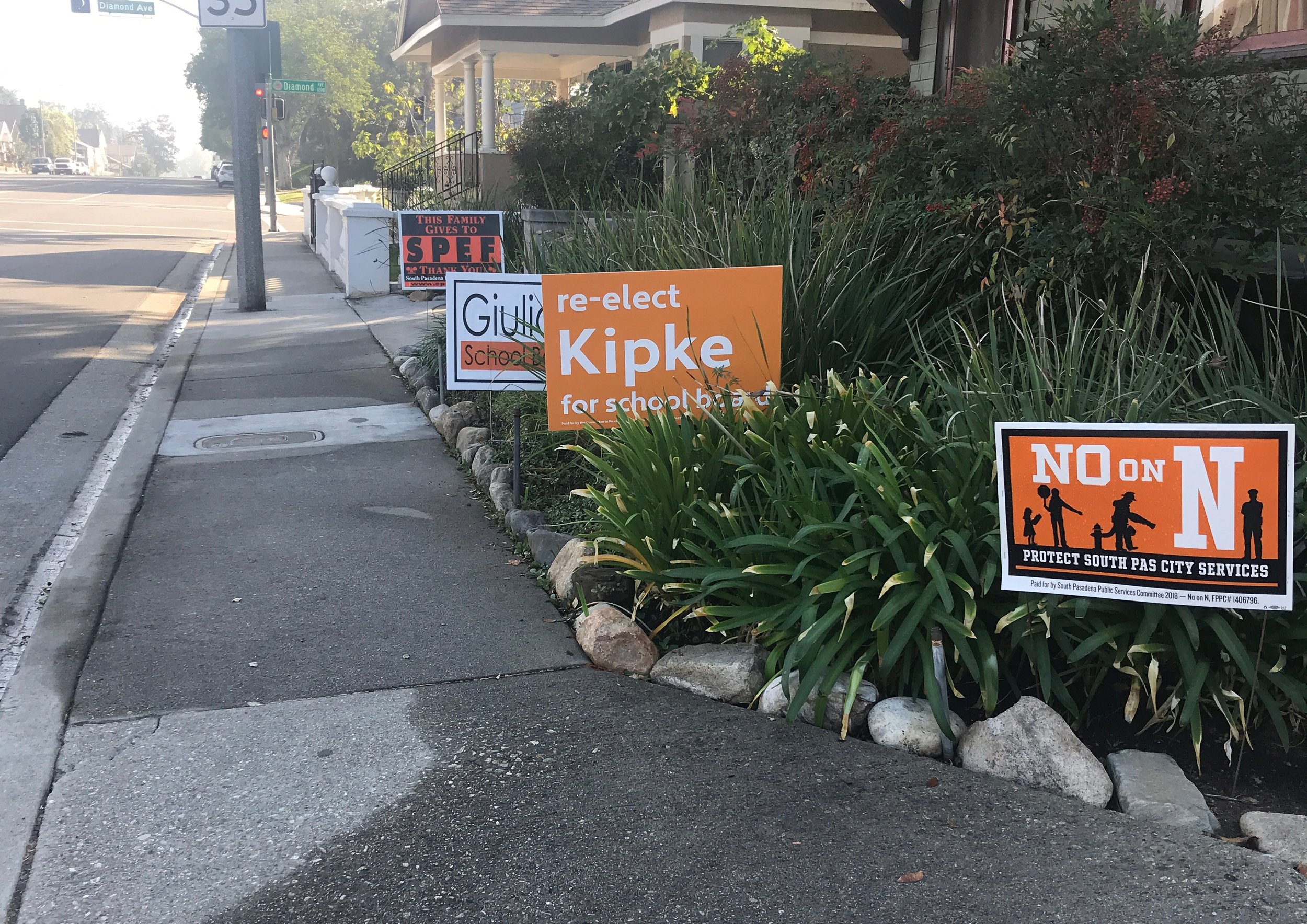 I think we may have over-done it on lawn signs.