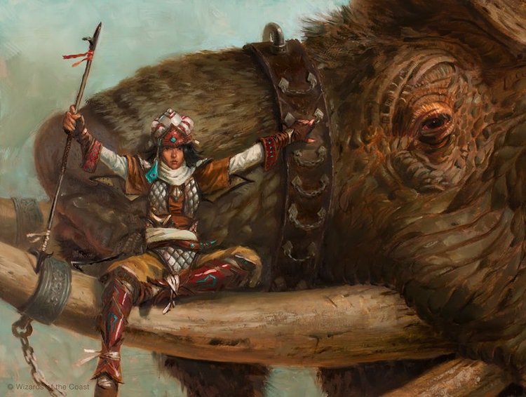 Tuskguard Captain | Magic: the Gathering | Wizards of the Coast