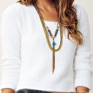 Sweater with Jewellery