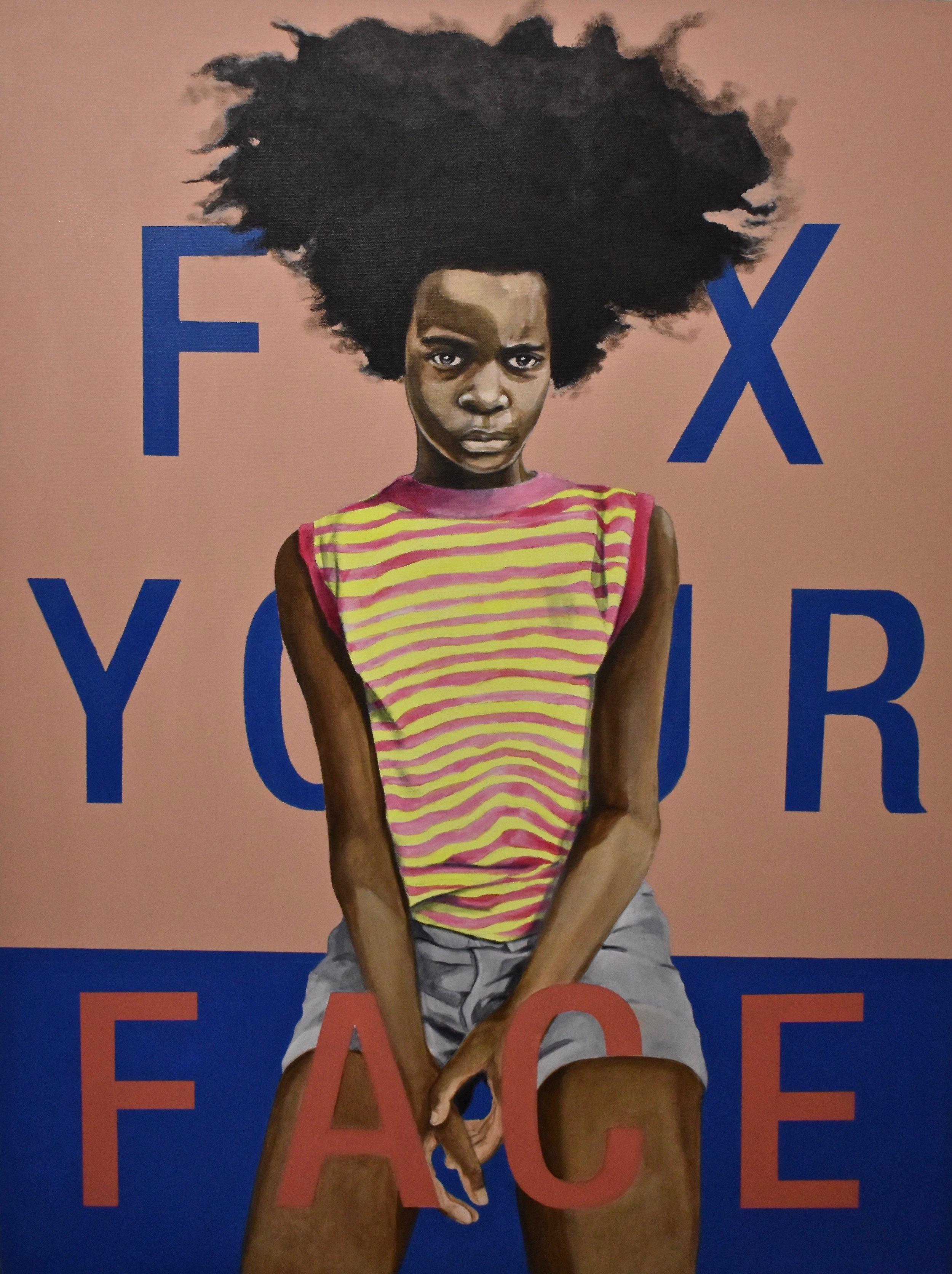 Fix Your Face, Acrylic on canvas, 2019