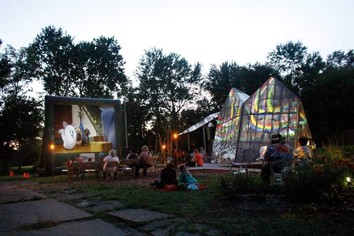 Outdoor Solar Movie and light show