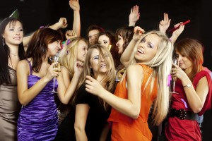 girls at party